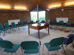 Meeting room before worship